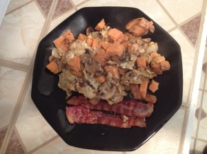 sweet potato scramble paleo breakfast